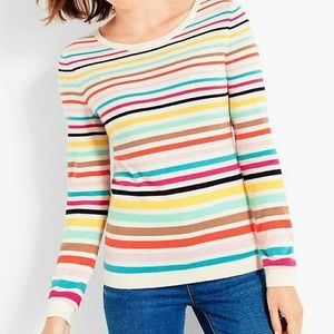 Talbots long sleeved tee with rainbow stripes
